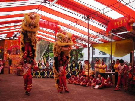 lion dance mazu birthday