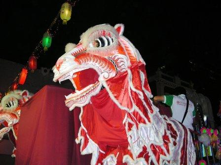 lion dance at tooth relic opening