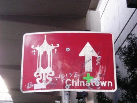 signpost to san francisco chinatown