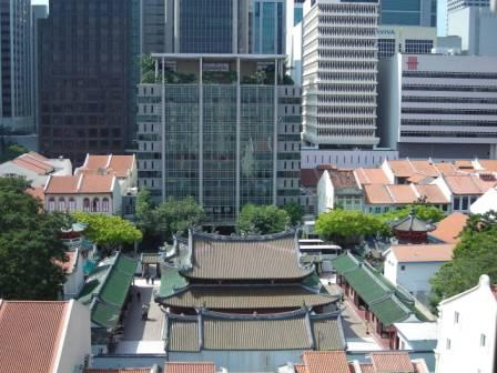 aerial view of thian hock keng