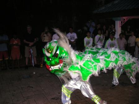 zhong hua green lion performance