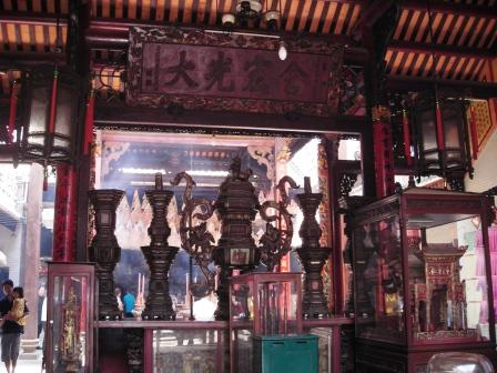 main hall of matsu temple cholon vietnam chinatown