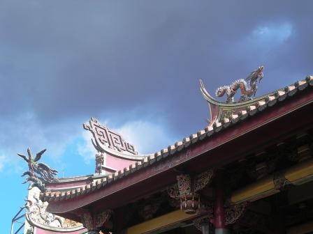 roofs of xing tian temple