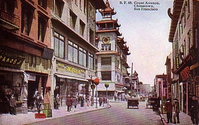 san francisco chinatown grant ave 1915s